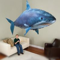 Remote Control Flying Helium Shark Toy Inflatable Balloons Fish