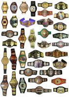 MOLD CAST CHAMPIONSHIP BELTS