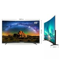 49-inch high-end Curved surface 4K slim intelligent network LED LCD screen TV hot new products free shipping!