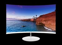 55inch 34 nuclear primary color quantum dot artificial intelligence HDR ultra-thin 4K curved TV (deep ash) free shipping.