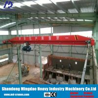 Skillful Manufacture Durable Strong Adaptability 15 Ton Monorail Single Girder Bridge Crane With Electric Hoist