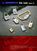 Luggage Locks, Bag Closures, Turn Locks, Pad Locks