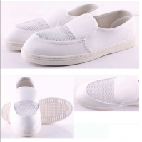Autoclavable PU Antistatic ESD stripe meshy canvas shoes
