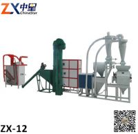 Automatic corn/maize flour mill machine 12ton per day high capacity commercial grain mill plant for food machine