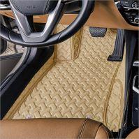 3D automotive car floor mats Customized colors PVC leatherette high quality