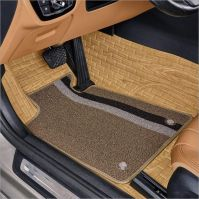 High quality wood imitation Artificial PVC leather 3D car floor mats