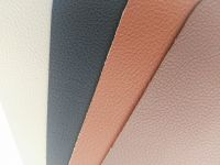 Lychee pattern PVC leather fabric Suede backing and Car interior upholstery