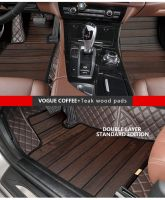 Customized 3D floor mats for various cars models PVC artificial synthetic leatherette