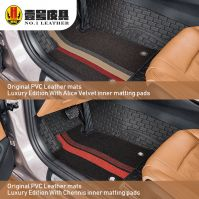 OEM car PVC leather floor mats customized for different car models with additional accessories
