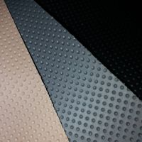 PVC leather 0.6mm thickness fishnet backing bottom cloth stocklot for auto interior upholstery