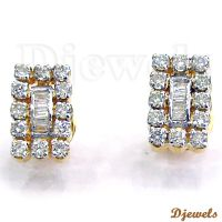 0.62 Ct Ideal Cut Diamond Ladies Earring & Diamond Jewelry