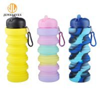 2018 Amazon Top Seller Silicone Collapsible Water Bottle New Drinking Bottle