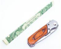 "CHUM ATT01196 SMALL SWITCHBLADE AUTOMATIC KNIFE 5.75"" FULLY DEPLOYED 2.5"" 1XE1WDD"