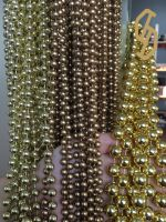 Factory Price Multisize Gold Plated Plastic Beads Chain Round Roll