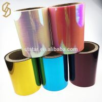 China factory eco-friendly holography color PET heat transfer sequin film rolls