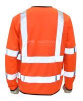 Hi Viz Work Vest Long Sleeve