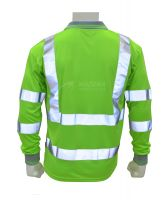 Hi Viz Work Polo Shirt Long Sleeve