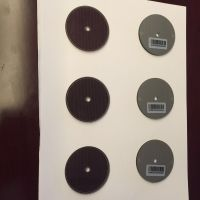 customized round solar panel withhole or not