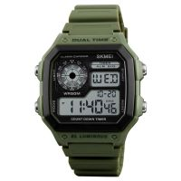 New 2018 hot products TOP 10 SKMEI 1299  chronograph watch Hot sales  Dual Movement Sports Watch Men Hot mens  wristwatch