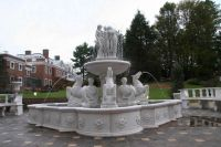 outdoor stone carved water fountains