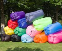 Portable camping sleeping bag, inflatable lounger air sofa, lazy banana