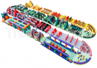 Inflatable obstacle course, inflatable castle slide obstacle challenge
