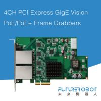 Future Robot 4CH PCIe 4-Port Gige Vision 802.3at PoE+ Frame Grabber Card Image Capture Card 30W Power Supply Each Port