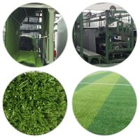 Artifical football grass lawn making machine