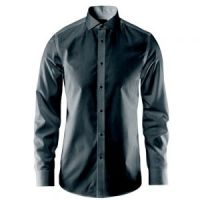 Non-iron Dark-Grey plain shirt
