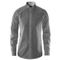 Non-iron Grey plain shirt