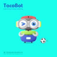 TacoBot, a humanoid coding robot that guides children to learn STEM skills