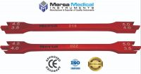 2Pcs' Red Dental Bracket Height Gauge, 18cm & 22cm