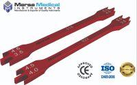 2Pcs' Red Dental Bracket Height Gauge, 18cm & 22cm