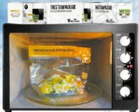 Reusable microwave steam bag