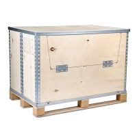 Custom Collapsible Storage Box Steel Strip Plywood Packaging Box