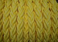 High Strength 80mm x 220m Yellow Polypropylene Mooring Rope With Splice Eyes Both Ends