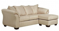Signature Design By Ashley Darcy Sofa Chaise In Microfiber, Stone