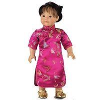 18 Inch Doll Dress, Fuchsia Mandarin Dress Perfect for 18 Inch American Girl Doll Clothes & More! Fuchsia Mandarin Dress for 18 Inch Dolls. Chinese New Year Doll Dress