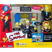 The Simpsons Playset 2003 New Year's Eve