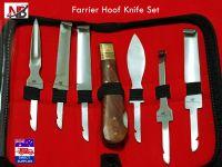 Farrier Hoof Knife Set kit in Zip Up Wallet Premium Quality Farrier Tools