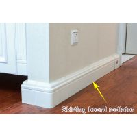 Two Waterways Ultra-Thin Household Skirting Board Radiator