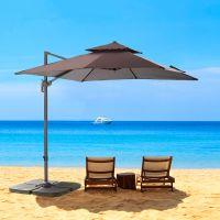 Factory direct selling 3 m diameter garden patio umbrella outdoor sunshade wind resistant promotional Beach umbrella