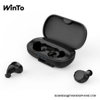 X100 Bluetooth 5.0 wireless earbuds with breathing lights, 2600mAh charging case with USB output, metallic grey finishing, IPX4 sweatproof touch