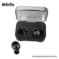 DE01 IPX7 waterproof wireless earbuds with breathing lights, 2600mAh charging case with USB output, 3D stereo quality sound, touch bluetooth mini headset,