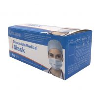 Factory direct sales 3 ply medical blue disposable breathable face mask
