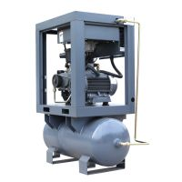 Portable screw air compressor mounted air tank and dryer