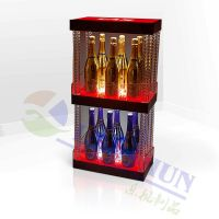 New Design popular wine rack display acrylic display stands for promotion stores bars party LED Bottle Glorifier