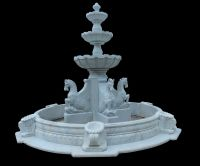Carved stone horse sculpture garden fountain outdoor water fountain