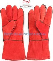 cow split leather welding working gloves