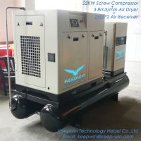 Integrated Screw Air Compressor 500L air tank Refrigerated Air Dryer Filters